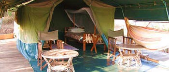 Original East African Safari tented camp accommodation