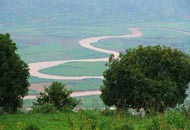 Rwandan rivers snaking through the valleys